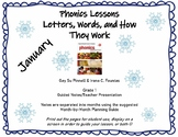 January Phonics Lessons Pinnell and Fountas Grade 1