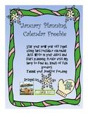 January Planning Calendar