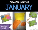 January Mixed up Sentences – Reading, Writing, and Sentence Building Activities
