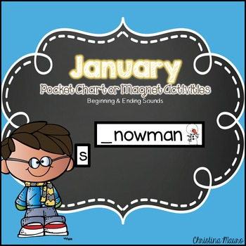 January Pocket Chart or Magnetic Letter Activities