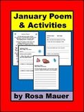 January Poem Winter Snow Day Poetry Reading and Writing Activities