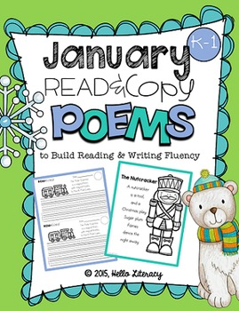 January Poems for Building Reading Fluency & Writing Stamina (K-1)