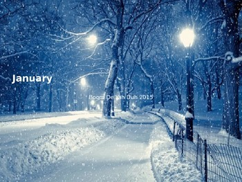 January - Power Point - All the facts about the month January holidays weather