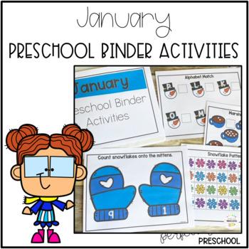 January Preschool Binder
