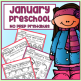 January Winter Preschool Printable Packet NO PREP - All Subjects