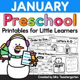 January Preschool Printables