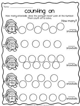 January Print & Go ELA and Math Printables