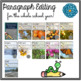 January Print & Go Editing Paragraphs: 20 Passages for Grades 3-5