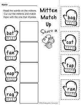 January Print - That's It! Kindergarten Math and Literacy Printables Sampler