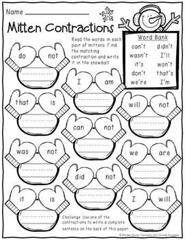 Printables January Print and Do- Winter No Prep Math and Literacy Pack-1st Grade