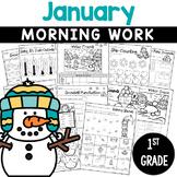 1st Grade Morning Work NO PREP January (Winter) Worksheets