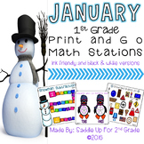 January Print and Go Math Stations