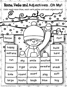 January Print and Go Math and Literacy Printables! {109 Student Pages}