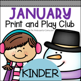 January Print and Play Club - Kindergarten