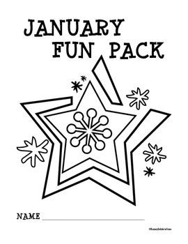 January / Winter Printable Activities Fun Pack