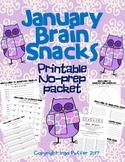 January Printable Brain Snacks