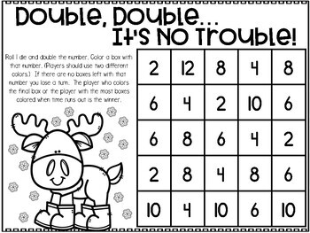 January Printable Math Games