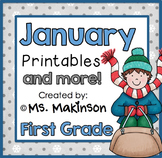 January Printables - First Grade Literacy and Math