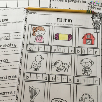 January Printables- Math and Literacy On The Go