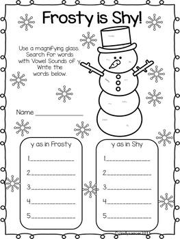 January Printables for Math, Phonics, Writing, Vocabulary