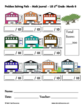 January Problem Solving Path: Real Life Word Problems for 2nd Grade / Year 3