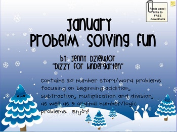 January Problem Solving for the Promethean Board