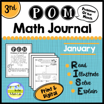 Math Problem-Solving - 3rd Grade January POM Pack