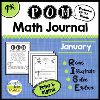 January Problems of the Month (POM) Math Pack - 4th Grade
