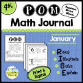 Math Problem-Solving - 4th Grade January POM Pack