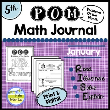 January Problems of the Month (POM) Math Pack - 5th Grade
