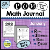 Math Problem-Solving - 5th Grade January POM Pack