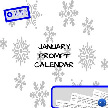 January Prompt Calendar