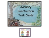 January Punctuation Task Cards
