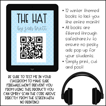 ☃ January QR Code Listening Center ☃