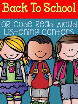Freebie October QR Code Read Aloud Listening Centers