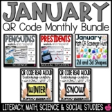 January QR Codes Bundle - Reading & Math