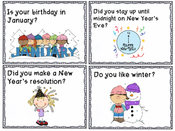 January Question of the Day Cards