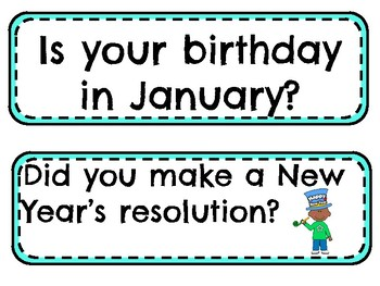 January Question of the Day prompts