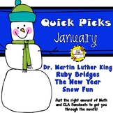 January Quick Picks: Budget-Friendly ELA and Math Funsheets