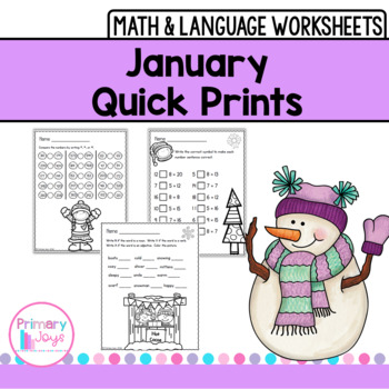 Worksheets for January