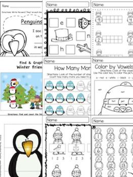 January Quick Prints {Math & ELA Activity Sheets}