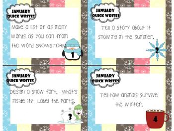 January Quick Writes