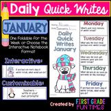January Quick Writes Winter Activities