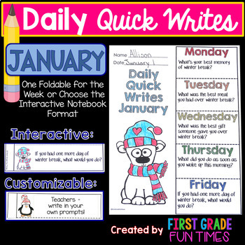 Winter Activities January Activities Quick Writes