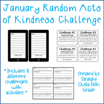 January Random Acts of Kindness Challenge Pack