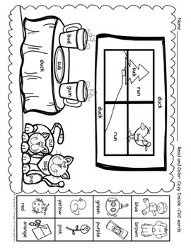 Read and Color: Winter Printables for Beginning Readers