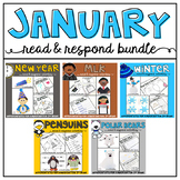 January: Reading Comprehension, Writing and Craftivities BUNDLE