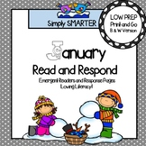 January Read and Respond: Emergent Readers and Comprehension Response Pages