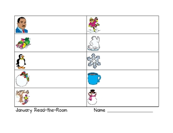 January Read-the-Room Word Work