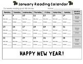 January 2018 Reading Calendar
